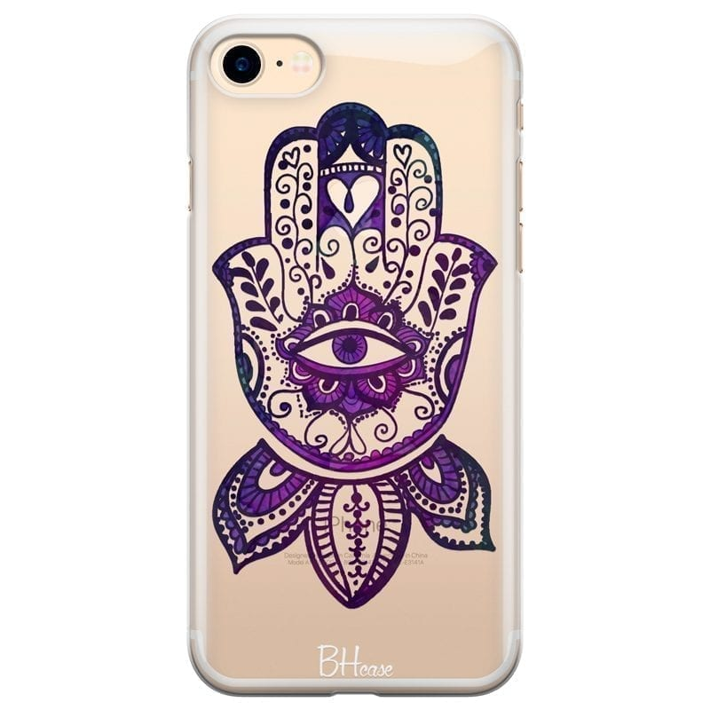 Bohemian Purple Hand Kryt iPhone 8/7/SE 2 2020