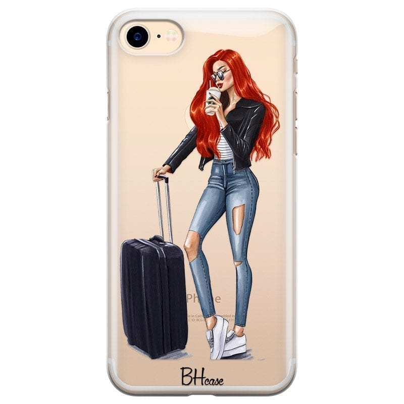 Woman Redhead With Baggage Kryt iPhone 8/7/SE 2 2020
