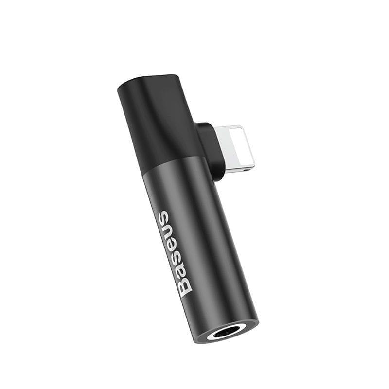Baseus Audio Converter Lighting to 3.5 mm Jack and Lighting Black