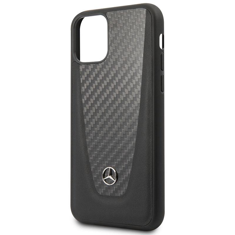 Mercedes Carbon Fiber Black Kryt iPhone 11