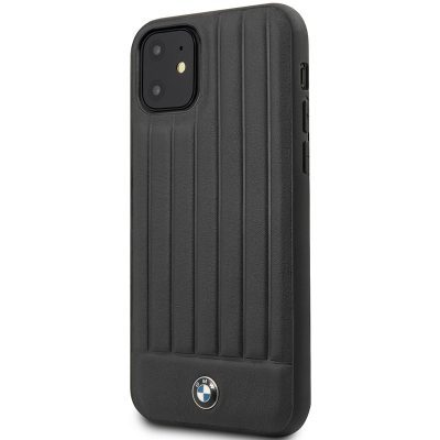 BMW Real Leather Hard Case Black Kryt iPhone 11