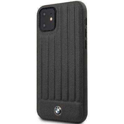 BMW Real Leather Hard Case Black Kryt iPhone 11