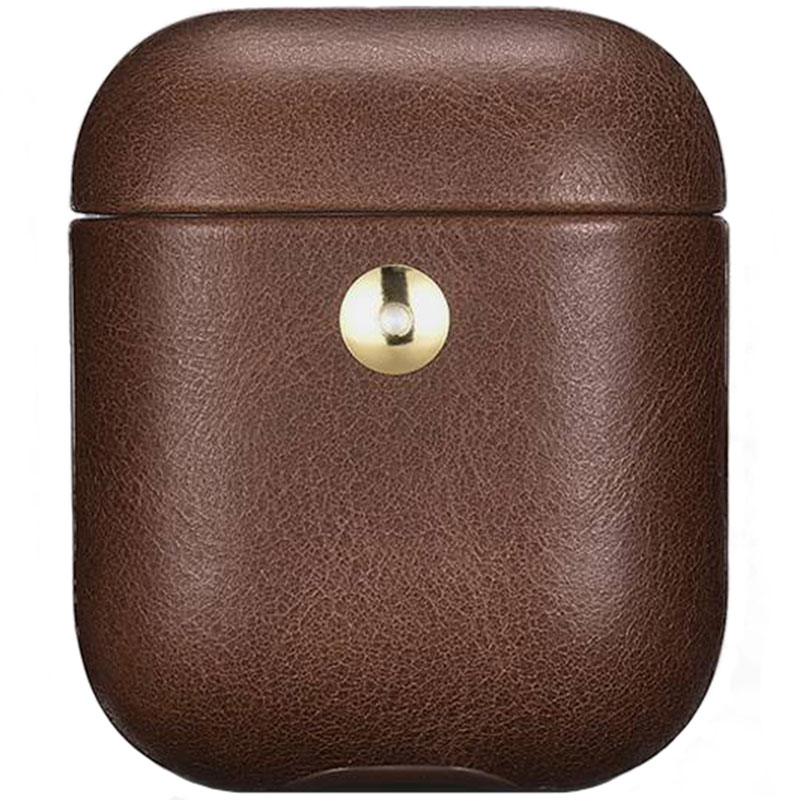 iCarer Crazy Horse Leather Obal AirPods Coffee