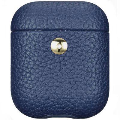 iCarer Hermes Leather Obal AirPods Blue