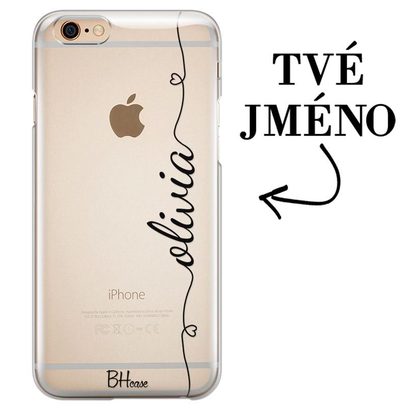 Kryt se srdíčkem a jménem pro iPhone 6/6S