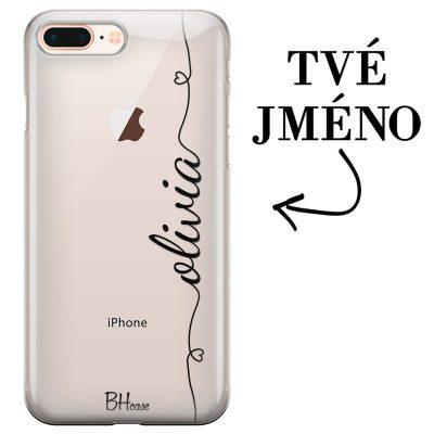 Kryt se srdíčkem a jménem pro iPhone 7 Plus/8 Plus
