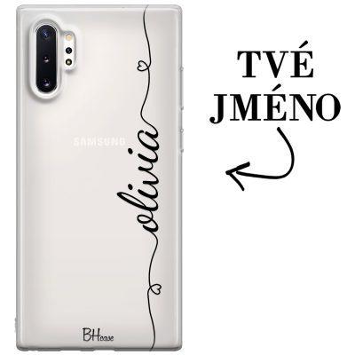 Kryt se srdíčkem a jménem pro Samsung Note 10 Plus