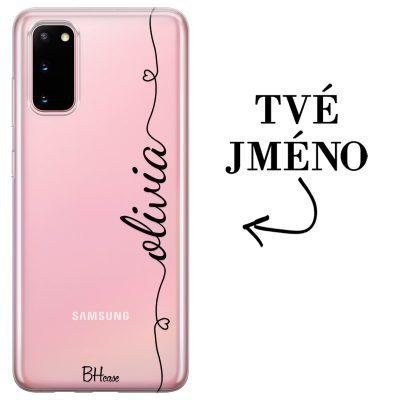 Kryt se srdíčkem a jménem pro Samsung S20