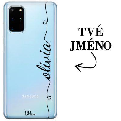 Kryt se srdíčkem a jménem pro Samsung S20 Plus