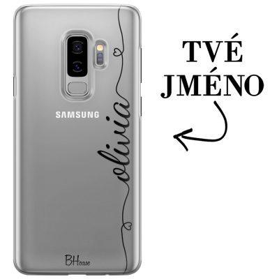 Kryt se srdíčkem a jménem pro Samsung S9 Plus