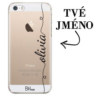 Kryt se srdíčkem a jménem pro iPhone SE/5S
