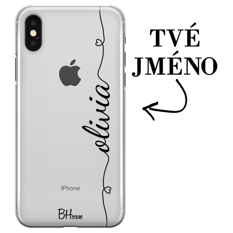 Kryt se srdíčkem a jménem pro iPhone X/XS