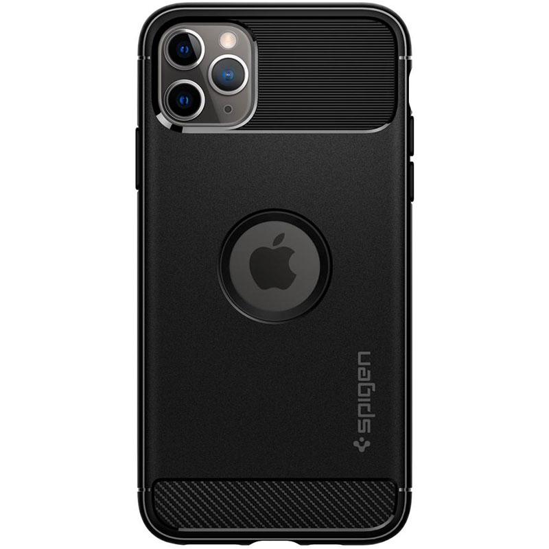 Spigen Rugged Armor Matte Black Kryt iPhone 11 Pro