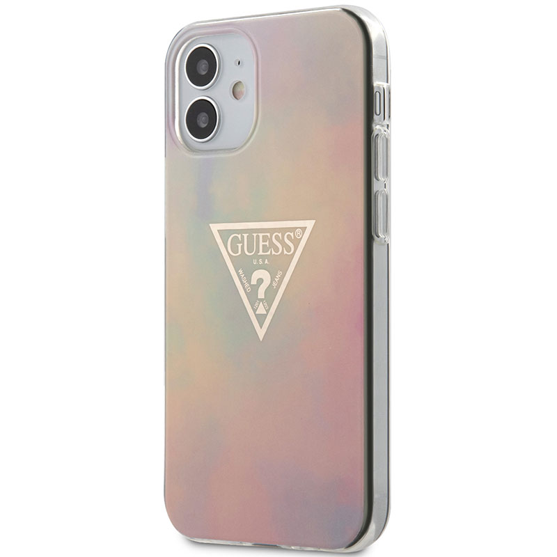 Guess TPU Gold Triangle Pink Kryt iPhone 12 Mini