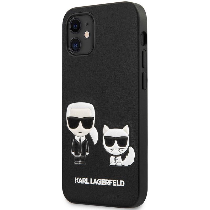 Karl Lagerfeld PU Karl and Choupette Black Kryt iPhone 12 Mini