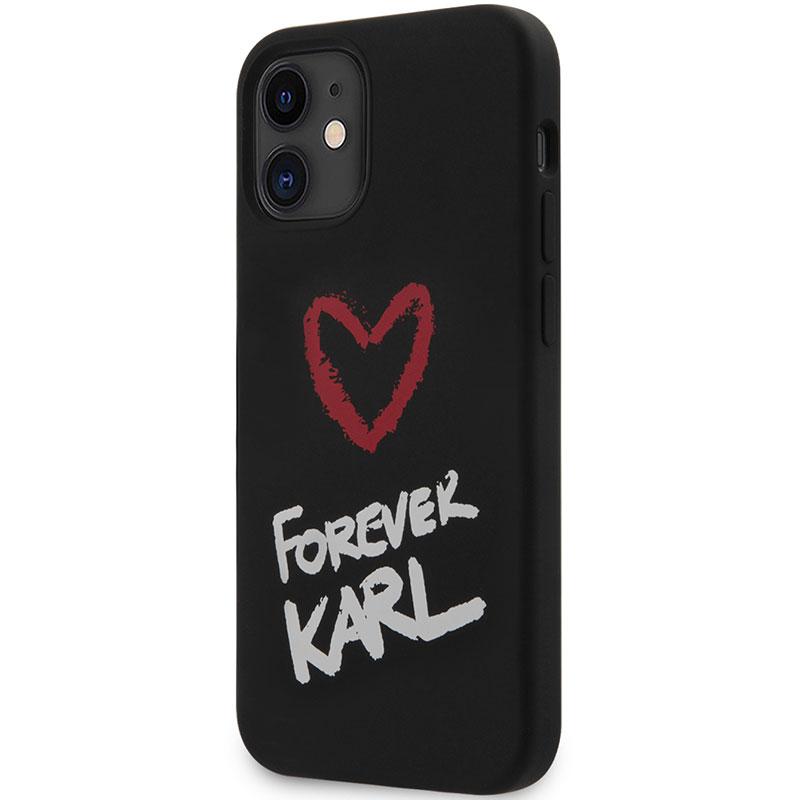Karl Lagerfeld Silicone Forever Black Kryt iPhone 12 Mini
