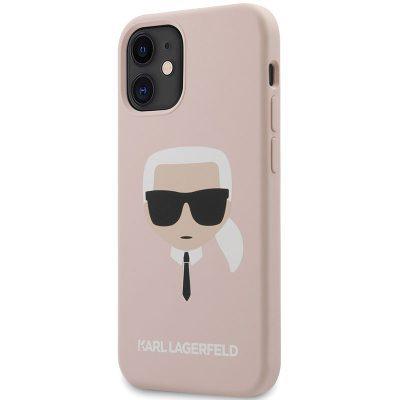 Karl Lagerfeld Silicone Head Light Pink Kryt iPhone 12 Mini