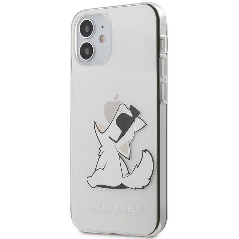 Karl Lagerfeld TPU Choupette Eat Transparent Kryt iPhone 12 Mini